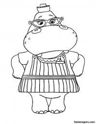 printable hallie hippo doc mcstuffins coloring pages