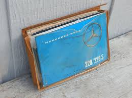 1959 1960 original 220 220 s mercedes benz owners manual set