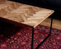 Parquet Coffee Table Parquet Coffee Table Etsy