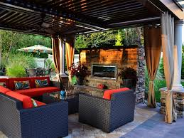 amazing backyard contemporary outdoor covered sitting room with