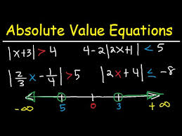 solving absolute value equations and inequalities number line