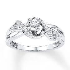 promise rings white images Kay promise ring 1 6 ct tw diamonds 10k white gold jpg