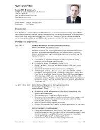 sample resume software engineer free download gallery
