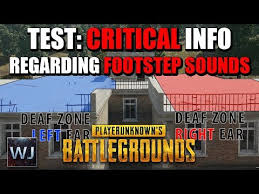pubg quieter without shoes critical info regarding footstep sounds in current patch