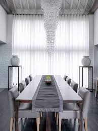 curtains dining room dining room with modern furniture and voile curtain popular and