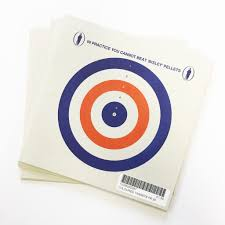 bisley coloured targets pk 25 fisher and smiths
