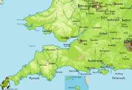 Somerset England Map by Trail