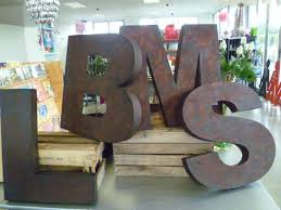 metal wall letters home decor large metal letter for wall found on theredcrayon co nz