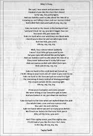 mary u0027s song taylor swift lyrics pinterest taylor swift