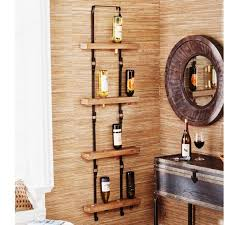 unique wall mounted wine rack metal vertical mount efficiency by