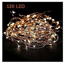 led string lights amazon amazon com starry string lights warm white color led s on a