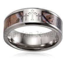 Pink Camo Wedding Rings by Wedding Rings Mens Camo Tungsten Wedding Bands Hunting Wedding