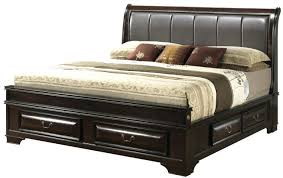King Size Leather Headboard King Size Leather Headboard Bedroom Black Wooden Bed Using Leather