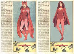 scarlet witch original costume the official handbook to the marvel universe redux edition