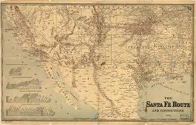 Albuquerque Map Santa Fe Route 1888 Albuquerque Historical Societyalbuquerque