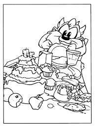 baby taz looney tunes coloring pages