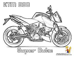 free motorcycle colouring ktm 990 super duke planes trains