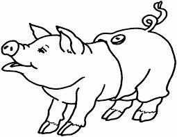 coloring pig kids coloring