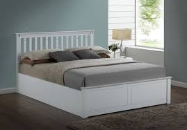 kensington white wooden storage ottoman kingsize bed frame amazon