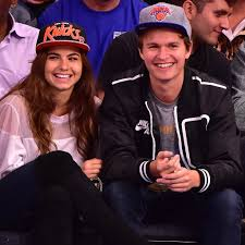 ansel elgort ansel elgort and girlfriend at knicks game november 2015