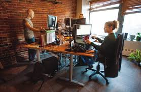Sit Stand Desk Vancouver Employees Of Paybyphone Technologies In Vancouver Work At