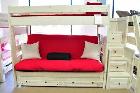 metal fuchsia futon bunk bed with ashley mattress bunkbeds