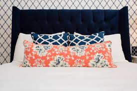 Navy Coral And White Bedroom Decorating With Color New South Home