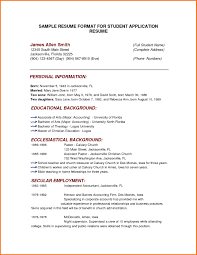 Printable Sample Resume by Examples Of Resumes 5 Simple Sample Resume Format For Students