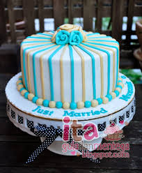 wedding cake sederhana gula dan mentega wedding cake