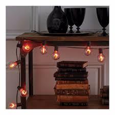 Flickering Light Bulb Halloween Target Halloween G50 Flicker Globe Lights Bulbs With Skulls 10