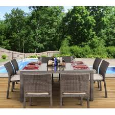 eight person patio dining sets you u0027ll love wayfair