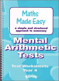 mental arithmetic tests year 4 teachers book