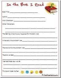2nd grade book report template book report template 3rd grade sle cereal box book report
