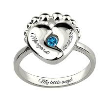 birthstone rings for birthstone ring for new with baby name platinum plated