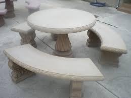 Concrete Patio Table Set Best Concrete Garden Furniture Modern And Concrete