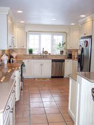 Kitchen Tile Ideas With White Cabinets Tile Floor Kitchen White Cabinets With Ideas Gallery 43949 Kaajmaaja
