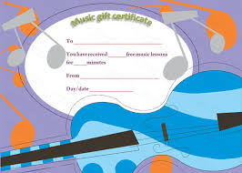 free music lessons gift certificate template beautiful printable
