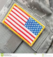 Army Uniform Flag Patch Us Flag Shoulder Patch On Solder U0027s Uniform Studio Shot Stock