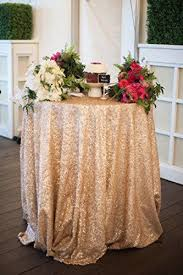 48 inch table runner 48inch round sequin tablecloth in chagne gold or silver more