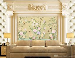 Home Decor Classic by Classic Home Decor European Flowers And Birds Building Backdrop