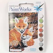 fox hole paint by number u2013 brooklyn craft company