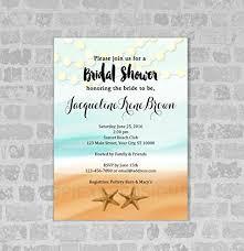 theme bridal shower invitation starfish and