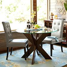 Leather Dining Room Chairs Dining Room Classy Large Round Dining Table Leather Dining