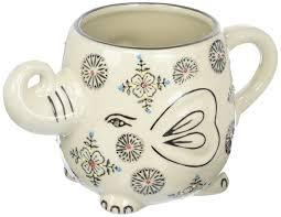 Porcelain Elephant Amazon Com Happy Sales Hand Painted Elephant Coffee Tea Mug Cups