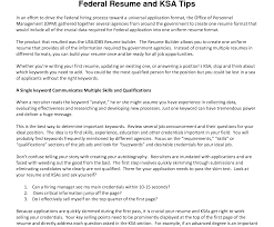 exle of the resume free federal resumer template and professional dreaded ksa sles