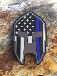 State Flag Velcro Patches Subdued Thin Blue Line American Flag Spartan Helmet Pvc Patch Law