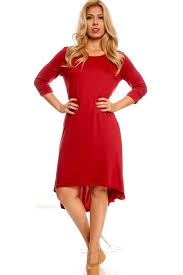 burgundy long sleeve high low casual dress cute casual dresses