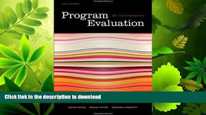 favorit book program evaluation an introduction 5th edition free