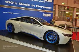 bmw i8 stanced h u0026r bmw i8 has a lowered stance at the essen motor show 2014 live