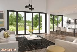 Large Interior Doors by Bi Folding Black Doors Interior Cgi Room Set U0026 Product